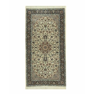 Naiin Hand-Knotted Ivory/Gray Area Rug