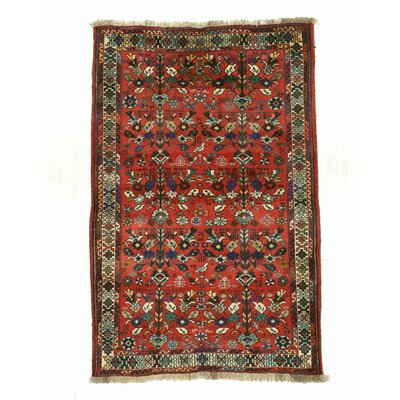 Lori Hand-Knotted Red Area Rug
