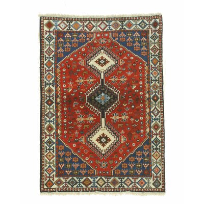 Middleton Hand-Knotted Red/Blue Area Rug
