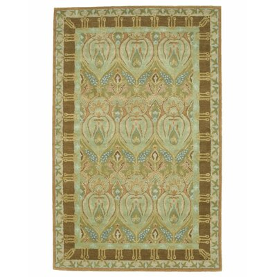 Morgan Hand-Tufted Wool  Green/Brown Area Rug Rug Size: 5 x 8