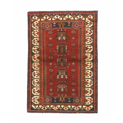 Hamadan Hand-Knotted Red Area Rug
