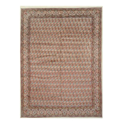 Mood Hand-Knotted Ivory/Red Area Rug