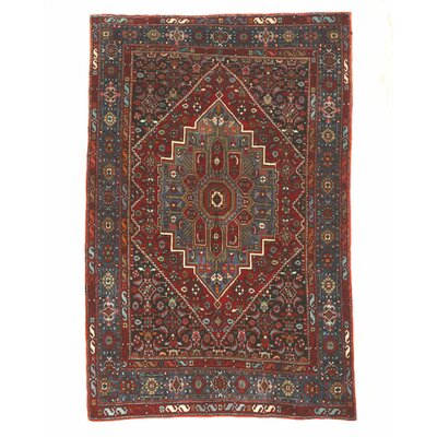 Gholtogh Hand-Knotted Red/Blue Area Rug