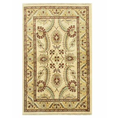 Peshawar Hand-Knotted Ivory/Red Area Rug