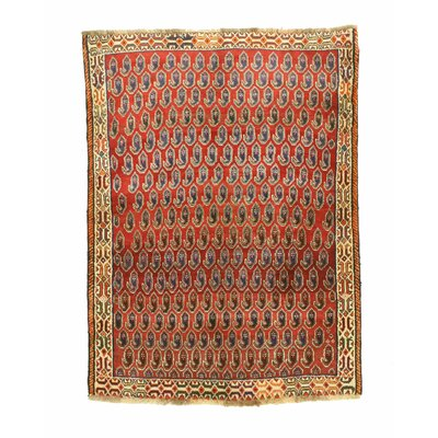 Shiraz Hand-Knotted Rust Area Rug