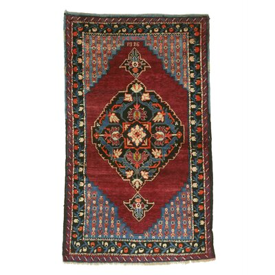 Dagestan Hand-Knotted Red Area Rug