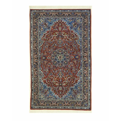 Sarouk Hand-Knotted Rust/Blue Area Rug