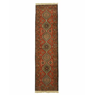 Shirvan Hand-Knotted Rust Area Rug