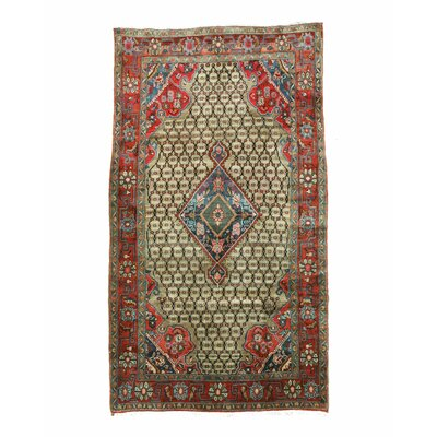Kolyaee Hand-Knotted Beige/Red Area Rug