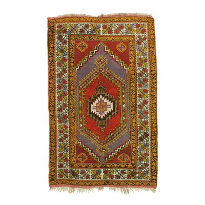 Anatol Hand-Knotted Rust Area Rug