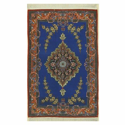 Isfahan Hand-Knotted Blue Area Rug