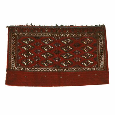 Khorjin Bokhara Saddlebag Hand-Knotted Red Area Rug