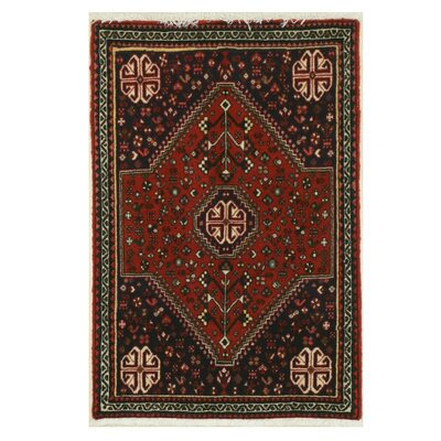 Abadeh Hand-Knotted Rust Area Rug