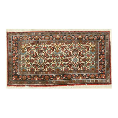 Malayer Hand-Knotted Ivory/Red Area Rug