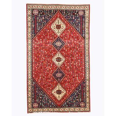 Abadeh Hand-Knotted Red Area Rug