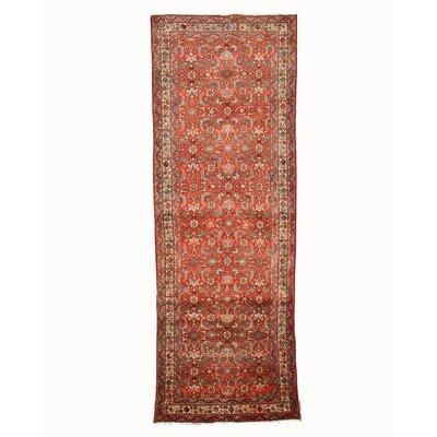 Hosseinabad Hand-Knotted Rust Area Rug
