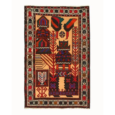 Baluchi Hand-Knotted Area Rug