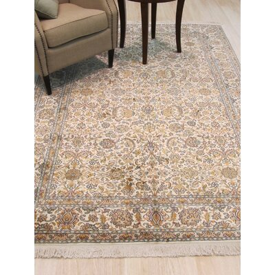 Kashmir Hand-Knotted Ivory Area Rug