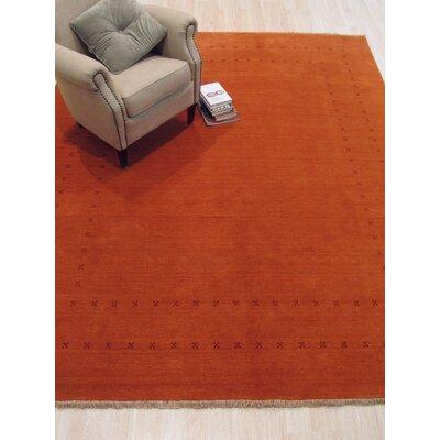 Lori Baft Handmade Orange Area Rug Rug Size: 10 x 14