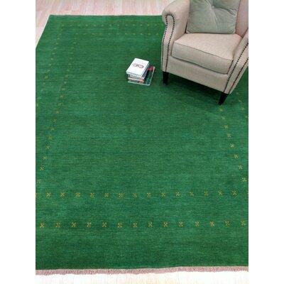 Dreher Handmade Green Area Rug Rug Size: 8 x 10