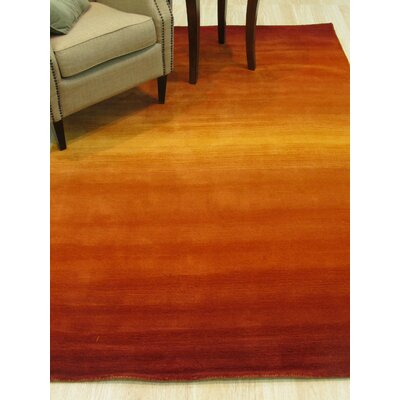 Horizon Handmade Orange Area Rug Rug Size: 96 x 136