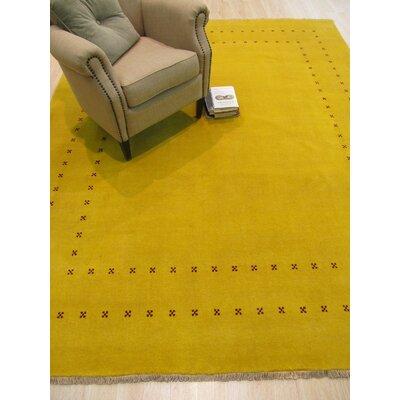 Lori Baft Handmade Yellow Area Rug Rug Size: 9 x 12