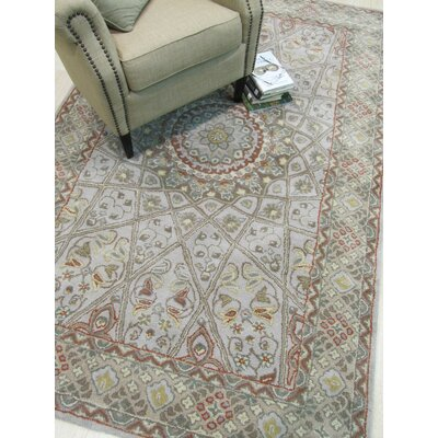 Gonbad Hand-Tufted Wool Gray Area Rug Rug Size: 5 x 8