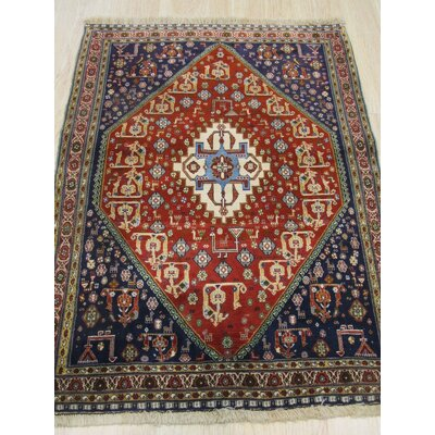 Kashkuli Hand-Knotted Red/Blue Area Rug X35318