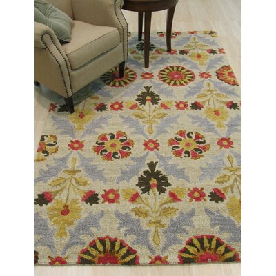Marcel Hand-Tufted Ivory Area Rug Rug Size: 5 x 8