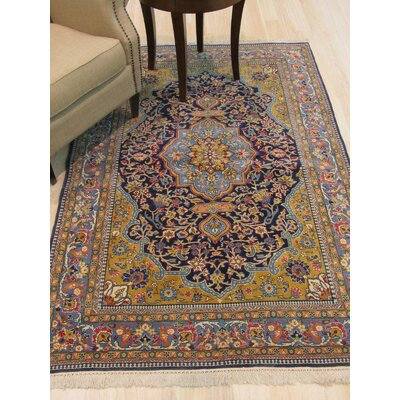Qum Hand-Knotted Blue Area Rug