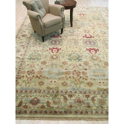 Mahal Hand-Knotted Gold Area Rug