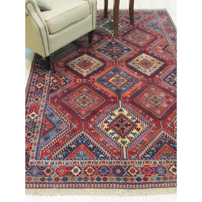 Middleton Hand-Knotted Red Area Rug