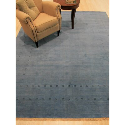 Lori Baft Hand-Knotted Wool  Blue Area Rug Rug Size: 9 x 12