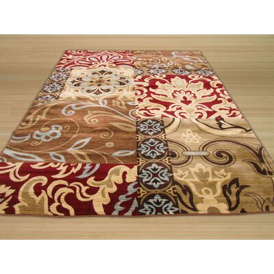 Delora Brown/Red Area Rug Rug Size: 710 x 106