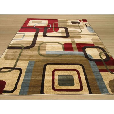 Delora Ivory Area Rug Rug Size: 53 x 73