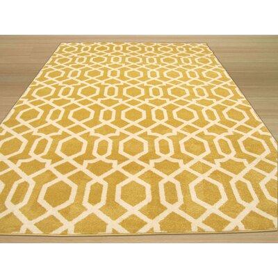 Trellis Gold Area Rug Rug Size: 710 x 106