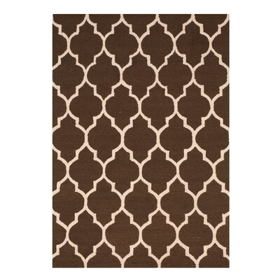 Moroccan Wool Traditional Trellis Hand-Tufted Brown Area Rug
