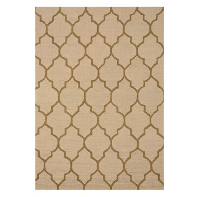 Moroccan Wool Traditional Trellis Hand-Tufted Light Beige Area Rug
