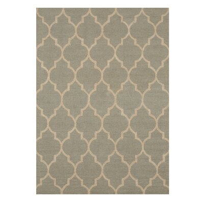 Moroccan Wool Traditional Trellis Hand-Tufted Light Green Area Rug