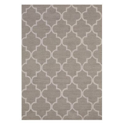 Moroccan Wool Traditional Trellis Hand-Tufted Light Gray Area Rug