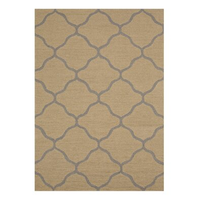 Moroccan Wool Traditional Trellis Hand-Tufted Beige Area Rug