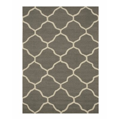 Moroccan Wool Traditional Trellis Hand-Tufted Gray Area Rug