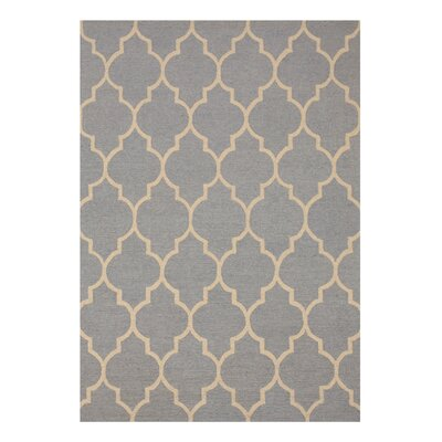 Moroccan Wool Traditional Trellis Hand-Tufted Light Blue Area Rug Rug Size: 5 x 7