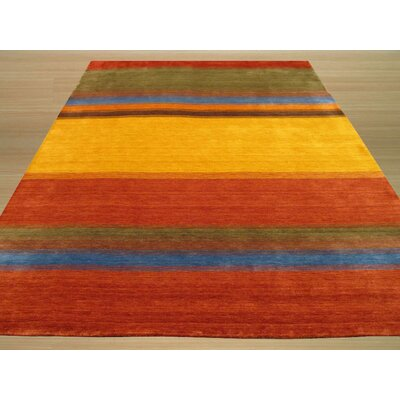 Gabbeh Handmade Yellow/Red Area Rug Rug Size: 4 x 6