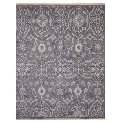 Cordie Hand-Knotted Gray Area Rug Rug Size: 8 x 10