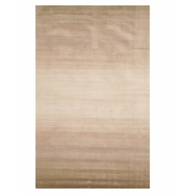 Johnny Horizon Handmade Beige Area Rug Rug Size: 96 x 136