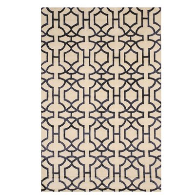 Alberta Hand-Knotted Ivory Area Rug