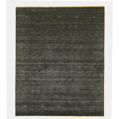 Gilberte Handmade Charcoal Area Rug Rug Size: Rectangle 6 x 9