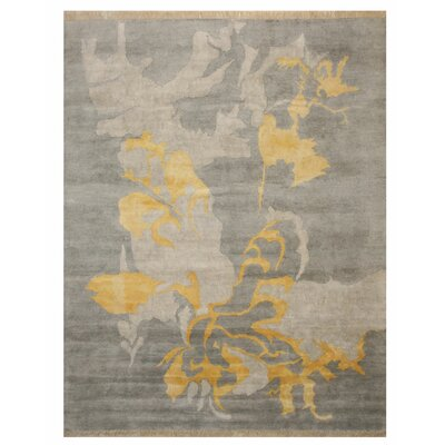 Vachon Hand-Knotted Gray Area Rug Rug Size: Rectangle 10 x 8