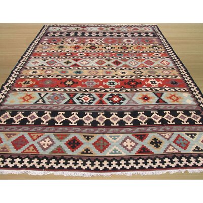 Osborn Kilim Hand-Knotted Brown/Beige Area Rug